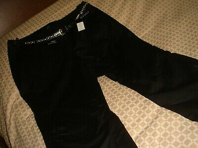 next bnwt size 16 cropped trousers with belt jeans black
