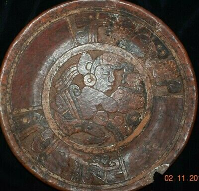 Orig $399!! Pre Columbian Mayan Bowl Figures, 8In Prov