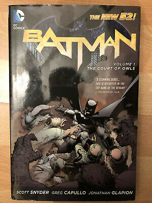 BATMAN VOLUME 1 THE COURT OF OWLS HARDCOVER New Hardback hb hc Collects #1-7