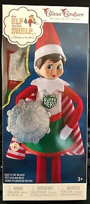 Elf on the Shelf Superhero Girl Dress Cape Shield Couture Collection Outfit New
