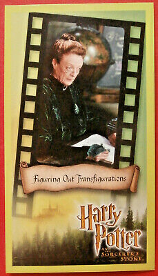 HARRY POTTER - SORCERER'S STONE - Card #10 - FIGURING TRANSFIGURATIONS - Wizards