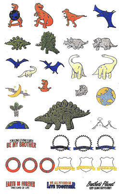 DINOSAURS #3 Embroidery Memory Card for Brother/B. Deco/Baby Lock .pes