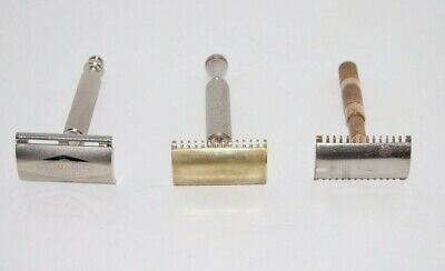 Lot Vintage Safety Razors Double Edge Gillette Germany Brass C105