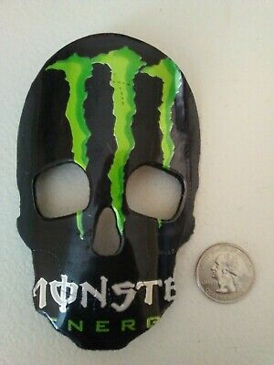 Monster Energy drink skull mask rear view mirror wall ornament