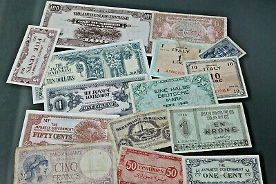 Banknotes - Collection Of Wwii Era Notes
