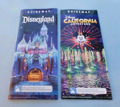 Disneyland / Disney California Adventure Guide Map 2019 Holiday