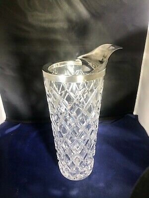 1940's Antique Silver Plated Lead Crystal Germany Westerling Pitcher Mixer Nice