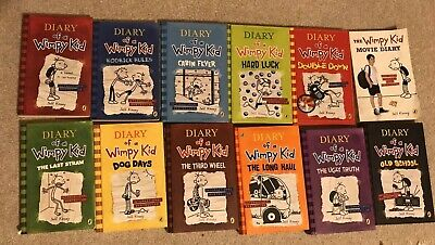 Jeff Kinney Diary Of A Wimpy Kid Book Collection 12 books7 hard and 5 paperback