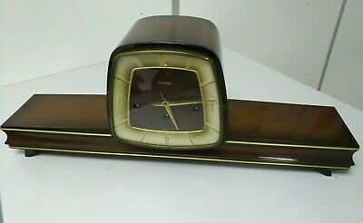 Vintage & Rare FRANZ HERMLE GERMANY 340-020 Wood Clock Table