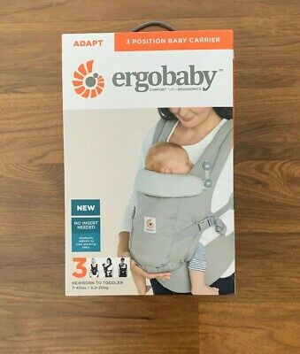 Ergobaby Adapt Baby Infant Carrier Pearl Grey Excellent Condition