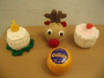 r//n Reindeer Chocolate orange cover knitting pattern AND WOOL FOR  1 COVER