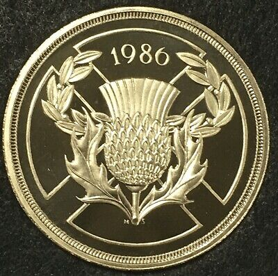 RARE 1986 PROOF £2 Two Pound Coin  Single metal £2 Commonwealth Games (R1246)