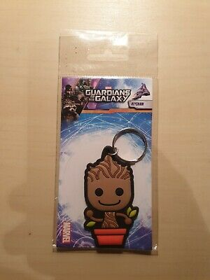 Guardians Of The Galaxy Baby Groot Pvc Keyring Keychain Retro Rubber Gift