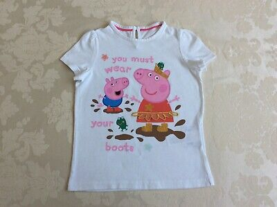 M&S Peppa Pig 5-6 Years White Girls Top Great condition