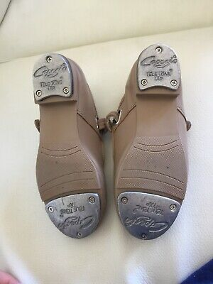 Girls Tan Capezio Tap Shoes Size 1M
