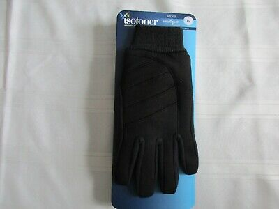 Isotoner Black Gloves Smartouch Touchscreen Technology Men's Large Lg New