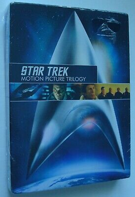Star Trek Motion Picture Trilogy Dvd Box Set (3 Movies) New Sealed 2009
