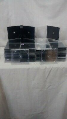 Lot of 100 USED Standard CD Empty Jewel Cases, 10.4 Standard Sized Cases W/trays