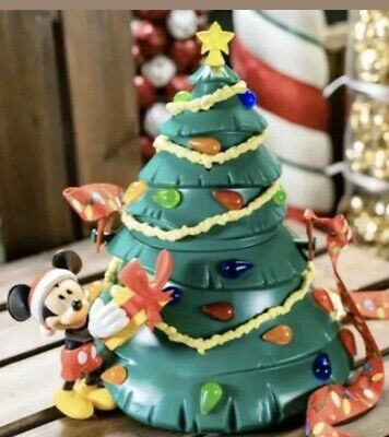 Disney Parks Mickey Light Up Tree Popcorn Bucket Christmas Holidays 2019 SEALED