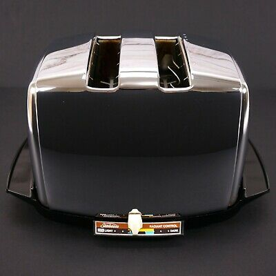 VTG Sunbeam Radiant Control Art Deco Fully Automatic Chrome 2 Slice Toaster NICE