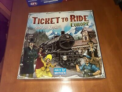 TICKET TO RIDE EUROPE / Origin Edition Family Board Game 2-5 Players Party Play