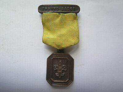 c1960s BOY SCOUT THANKS BADGE BADGE with ORIGINAL RIBBON in EXCELLENT CONDITION