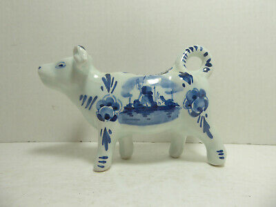Vintage Delft Cow Creamer Holland Blue & White