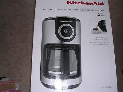 KitchenAid 12-Cup Glass Carafe Coffee Maker Onyx Black $130.00 msrp