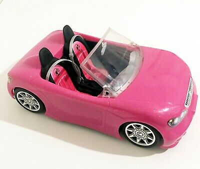 Barbie Hot Pink Convertible Beach Cruiser Car Mattel 2013