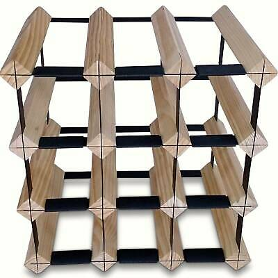 12 Bottle Timber Wine Rack - Complete Wine Storage Solution