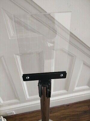 Universal fits all retractable barriers A4 Sign Holder - Portrait lots available