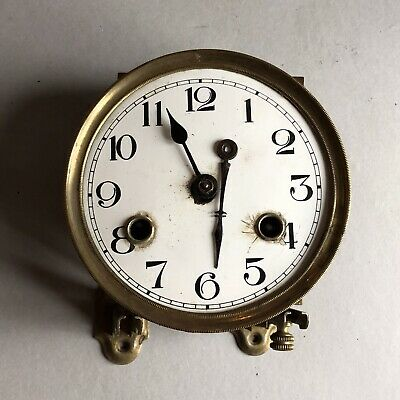 Antique Junghans German Brass Clock Movement/Face
