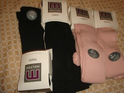 danish design melton quality tights x 4 pairs age 15 to 16 years navy and pink