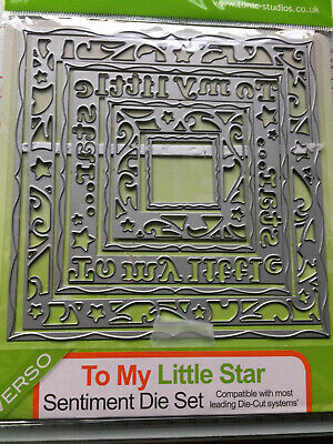 "Tonic Studios ""To My Little Star"" Sentiment Die Set"