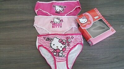 3 Pieces  Hello Kitty GIRLS BRIEFS 6/8 Years