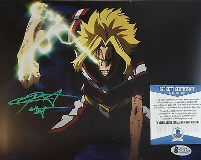 Chris Sabat Signed ALL MIGHT 8X10 Photo MY HERO ACADEMIA BECKETT BAS COA 41