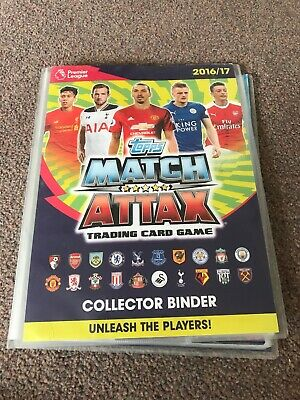 2016 / 2017  TOPPS MATCH ATTAX COLLECTORS BINDER WITH Over 50 Cards