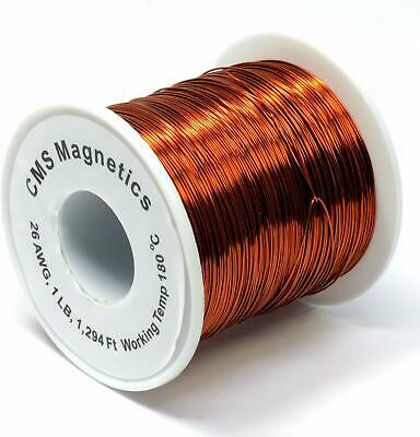 26 AWG Magnet Wire Enameled One LB Spool w/ Working Temperature 356 F
