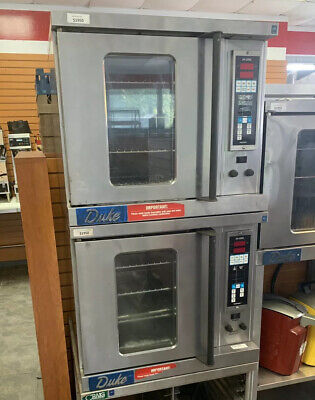 Duke Double Stack Commercial Half-Size Electric Convection Oven-1 Or 3 Phase