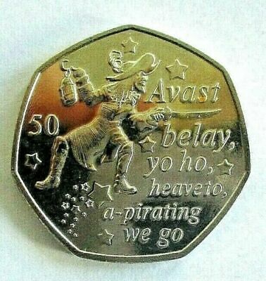 PETER PAN 50p COIN CAPTAIN HOOK NEW RELEASE READY TO POST