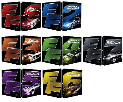 FAST AND FURIOUS COLLECTION-7 steelbook-BLU RAY-limited edition-edizione ITA-