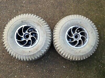 Pair of Pride Victory 4/3 Mobility scooter Rear Wheels and Tyres 260 x 85