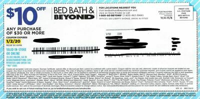 Bed, Bath And Beyond Coupon $10 Off $30 Purchase Exp. 1/2/20