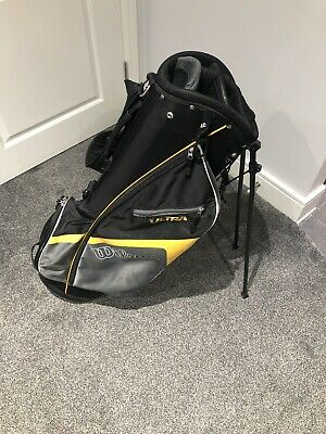 Wilson 2018 Lightweight Carry / Stand Golf Bag (Black and Yellow)