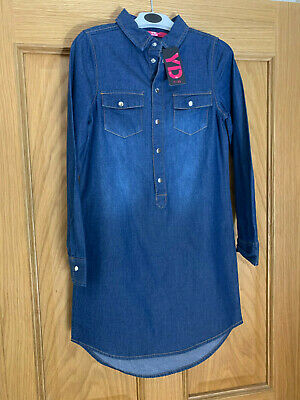 NEW with tags Girls Denim shirt dress. Age 8-9 years