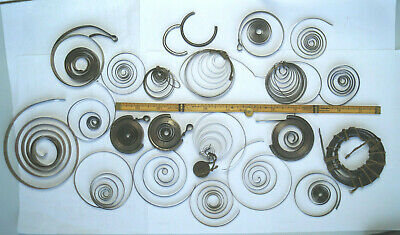 Clock & Watch Springs Various Job Lot