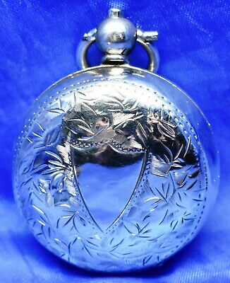 Antique Solid Silver Sovereign Case By Robert Pringle & Sons ~ Birmingham 1913