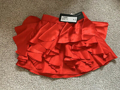Girls Red Satin Skirt By Autograph At M&S - New Aged 1.5-2 Years