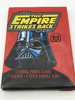 Vintage 1980 Star Wars Tesb Topps Series 1 Unopened Wax Pack Bubble Gum Cards