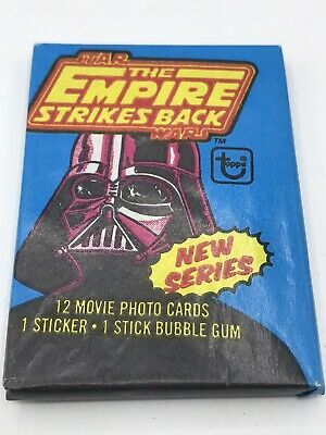 Vintage 1980 Star Wars Tesb Topps Series 2 Unopened Wax Pack Bubble Gum Cards
